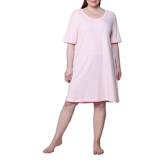 La Cera Knit Nightshirt - Plus