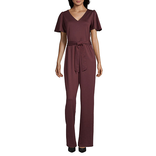 Worthington Long Sleeve Jumpsuit