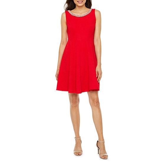 Studio 1-Petite Sleeveless Fit & Flare Dress