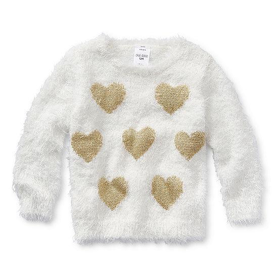 Okie Dokie Girls Crew Neck Long Sleeve Sweatshirt - Baby