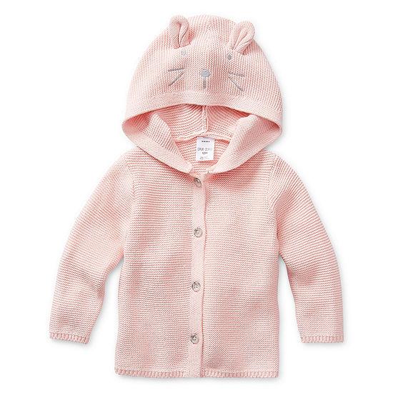 Okie Dokie Baby Girls Crew Neck Long Sleeve Sweatshirt