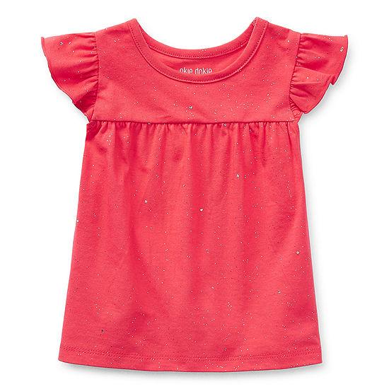 Okie Dokie Baby Girls Short Sleeve T-Shirt