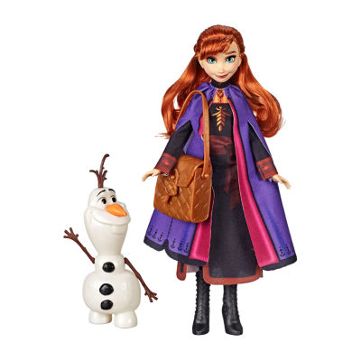 Disney Collection Frozen Anna Doll With Buildable Olaf Figure And Backpack Accessory, Inspired By Disney Frozen 2