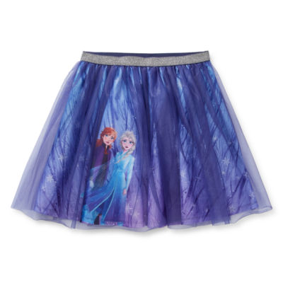 Disney's Frozen 2 Girls Elastic Waist Frozen Midi Tutu Skirt Preschool / Big Kid