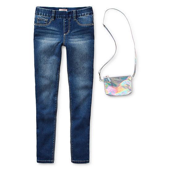 Squeeze Big Kid Girls Mid Rise Skinny Fit Jean