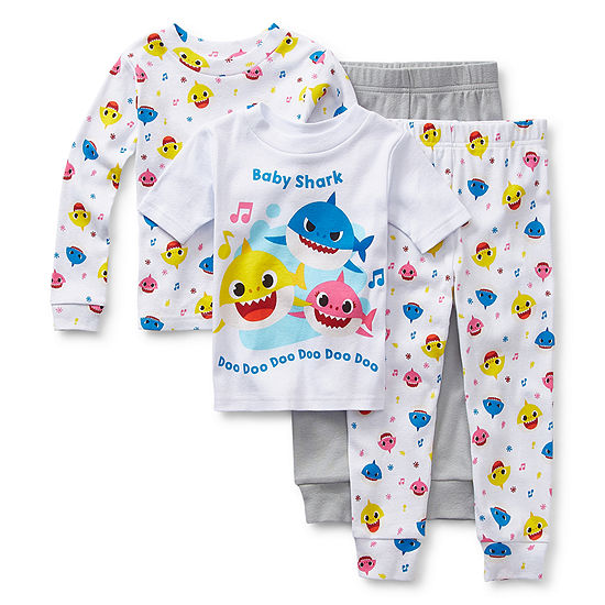 Toddler Boys 4-pc. Baby Shark Pajama Set
