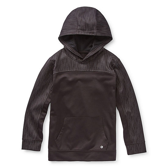 Xersion Little & Big Boys Cuffed Sleeve Reflective Hoodie
