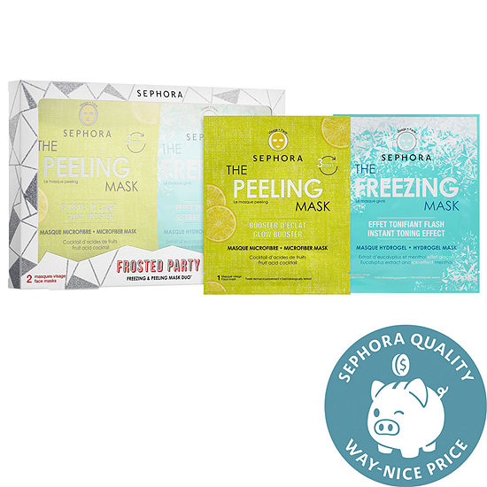 SEPHORA COLLECTION Frosted Party Freezing & Peeling Mask Duo ($12.00 value)