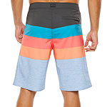 "Burnside Power House Striped 11"" Board Shorts UPF 30"