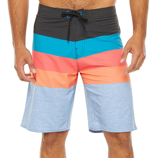 Burnside Power House Striped Board Shorts