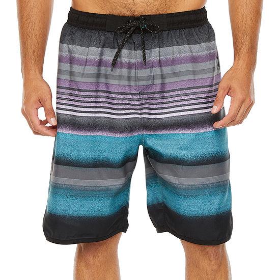 Burnside Striped Swim Trunks