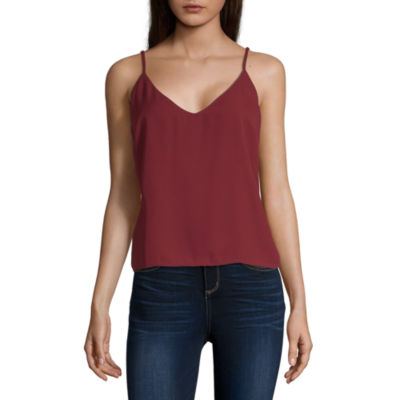 Society And Stitch Womens V Neck Camisole - Juniors