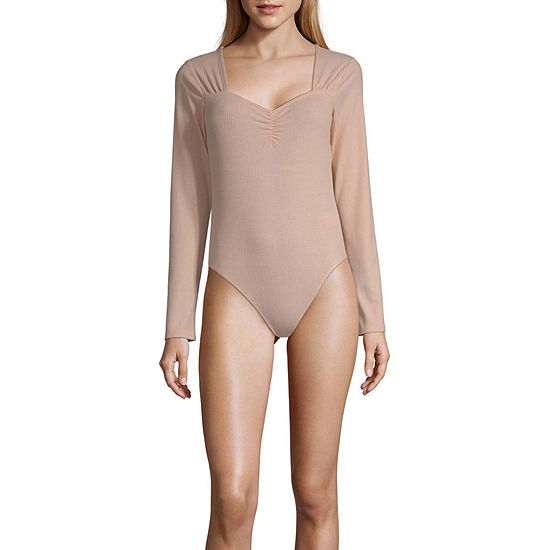 Society And Stitch Long Sleeve Bodysuit-Juniors