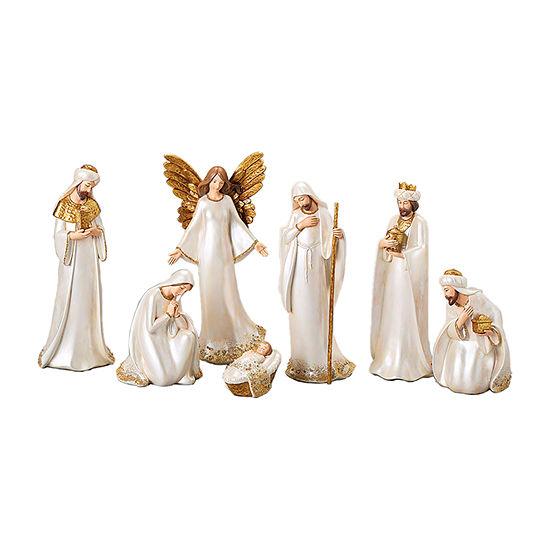 Roman Ivory & Gold Nativity 7-pc. Figurine