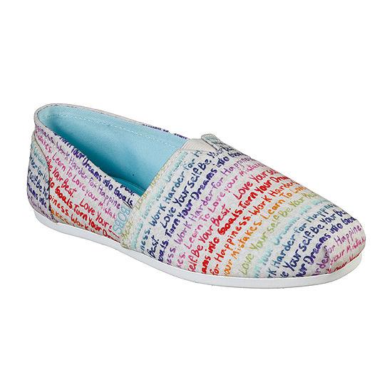 Skechers Bobs Womens Plush Inspire Me Closed Toe Slip-On Shoe