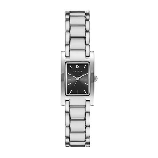 Geneva Womens Silver Tone Bracelet Watch-Fmdjm203