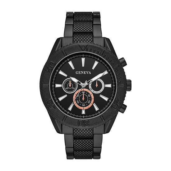 Geneva Mens Black Bracelet Watch-Fmdjm601