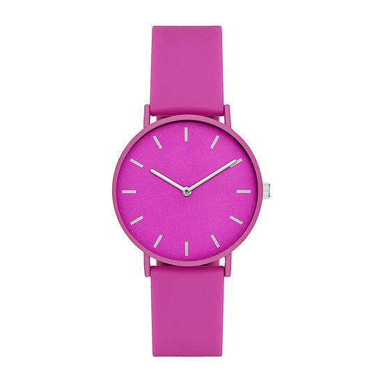 Womens Pink Strap Watch-Fmdjo161