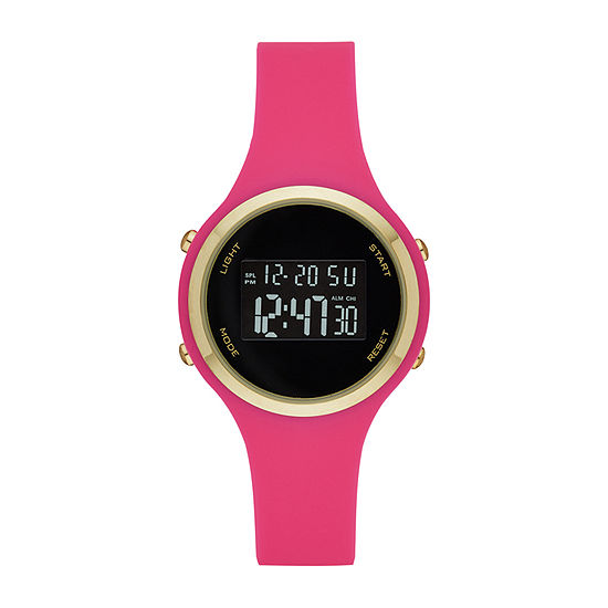 Opp Womens Digital Pink Strap Watch-Fmdjo170