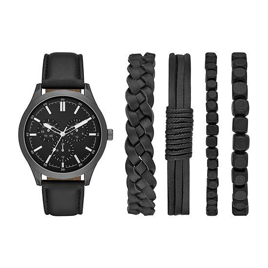 Mixit Mens Black Watch Boxed Set-Fmdjset549