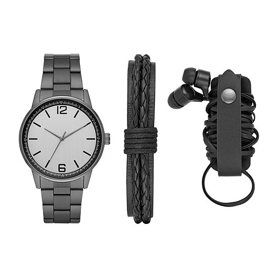 Mixit Mens Gray 4-pc. Watch Boxed Set-Fmdjset550