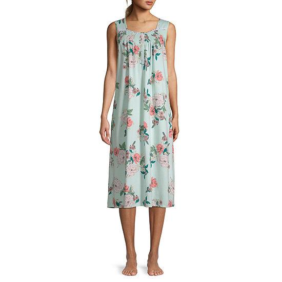Adonna Womens Sleeveless U Neck Nightgown