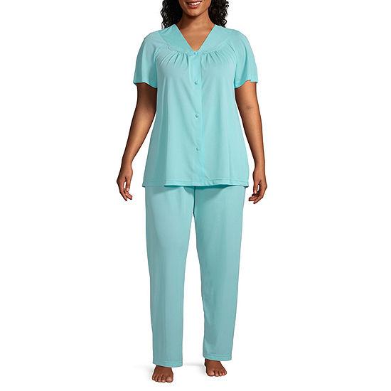 Lissome Womens-Plus Pant Pajama Set 2-pc. Short Sleeve