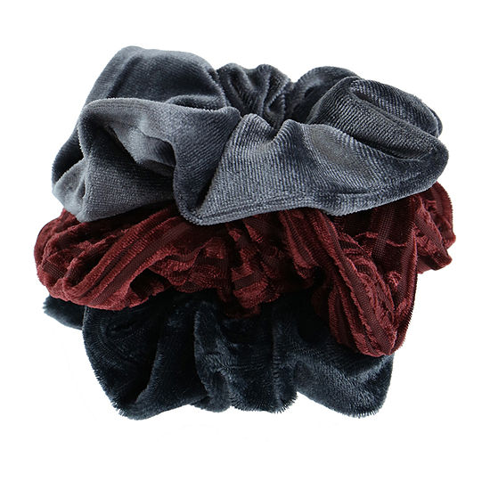Mixit Velvet Scrunchie 3-pc Hair Ties