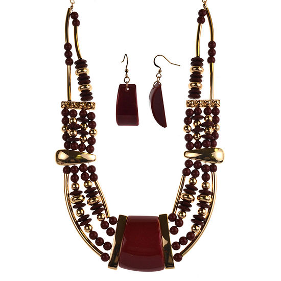 Mixit Burgundy 2-pc. Jewelry Set