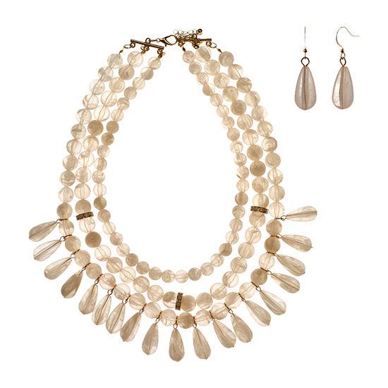 Mixit 2-pc. White Jewelry Set