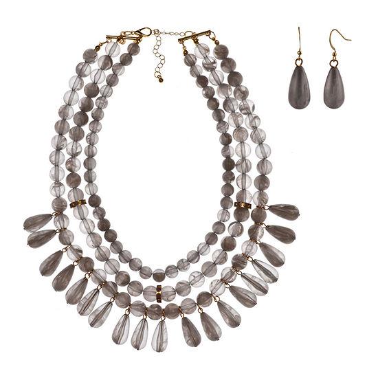 Mixit 2-pc. Gray Jewelry Set