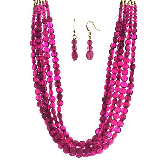 Mixit 2-pc. Pink Jewelry Set