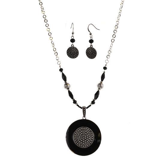 Mixit 2-pc. Black Jewelry Set