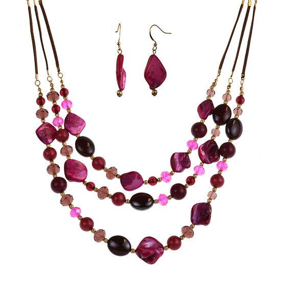 Mixit 2-pc. Purple Jewelry Set