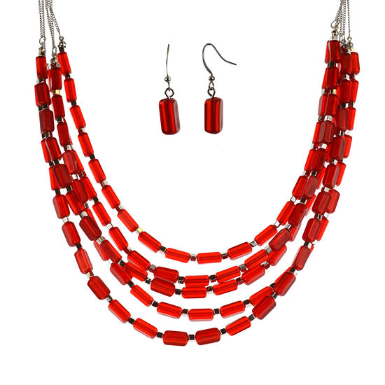 Mixit 2-pc. Red Jewelry Set