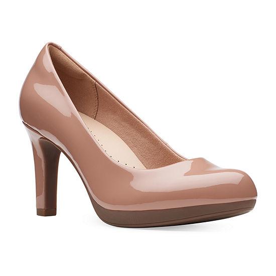 Clarks Womens Adriel Viola Round Toe  Slip-On Shoe