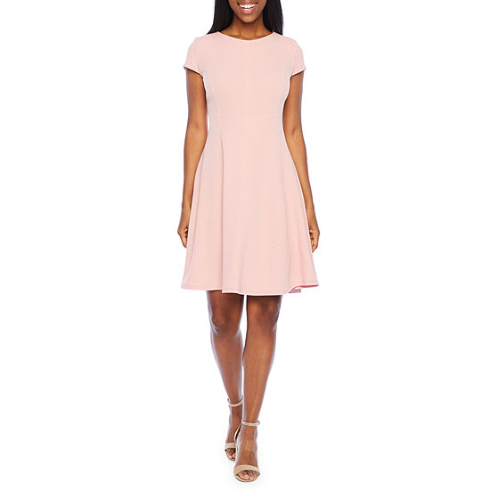 R & K Originals Short Sleeve Fit & Flare Dress