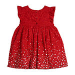 Marmellata Holiday Baby Girls Short Sleeve Floral A-Line Dress