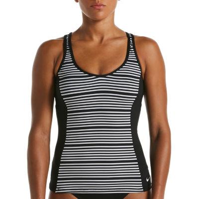 Nike Striped Tankini Swimsuit Top