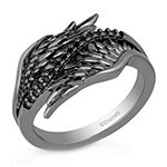 Enchanted Disney Fine Jewelry Villains Womens 1/10 CT. T.W. Genuine Black Diamond Sterling Silver Maleficent Cocktail Ring