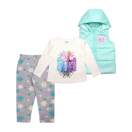 Disney Girls 3-pc. Frozen Legging Set-Toddler