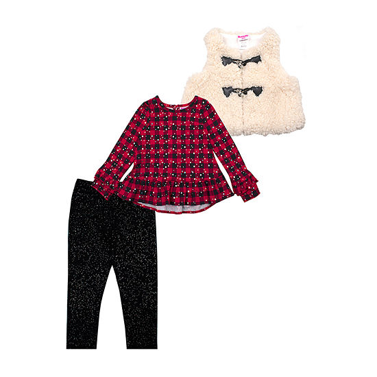 Nannette Baby Girls 3-pc. Legging Set-Toddler