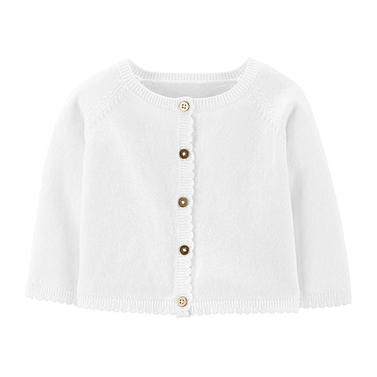 Carter's Girls Crew Neck Button Cardigan Baby