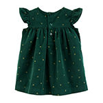 Carter's Girls Short Sleeve Cap Sleeve Babydoll Dress - Baby