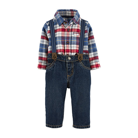 Carter's Boys 3-pc. Plaid Pant Set Baby