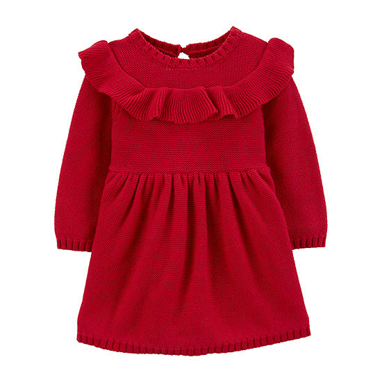 Carter's Girls Long Sleeve Sweater Dress - Baby