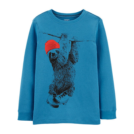 Carter's Boys Crew Neck Long Sleeve T-Shirt Preschool / Big Kid