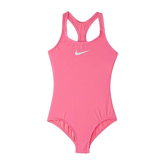 Nike Big Kid Girls One Piece Swimsuit