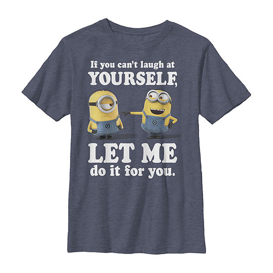 Minions Laugh At Yourself Little Kid / Big Kid Boys Slim Short Sleeve Despicable Me T-Shirt