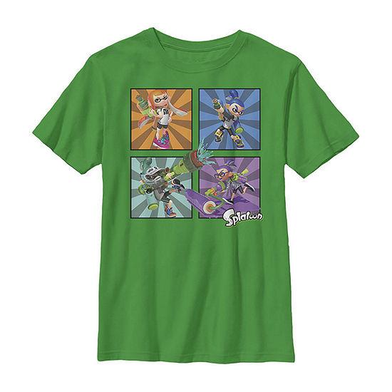 Legend Of Zelda Young Link Cartoon Sword Leap Boys Crew Neck Short Sleeve T-Shirt Preschool / Big Kid Slim